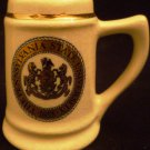 VINTAGE PORCELAIN MINIATURE PENNSYLVANIA STATE UNIVERSITY MUG STEIN BALFOUR
