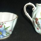 VINTAGE FINE BONE CHINA PARAGON ENGLAND REGO SUGAR BOWL & CREAMER SET