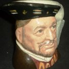 ROYAL DOULTON COLECTIBLE CERAMIC TOBY MUG HENRY VIII D 6647 ENGLAND TABLEWARE
