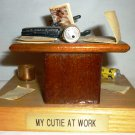 CHARMING HUMOROUS OFFICE DECOR 'MY CUTIE AT WORK' FIGURINE