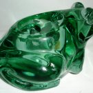 BEAUTIFUL GREEN INDIANA GLASS FIGURAL VOTIVE CANDLEHOLDER FROG