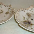 ANTIQUE GERMANY ROSENTHAL SAVOY SCALLOPED EDGES FLORAL DAISIES BOWL SET OF 2