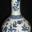 VINTAGE PORCELAIN BLUE & WHITE COALPORT CHINA ENGLAND DECANTER