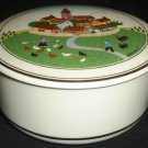 PORCELAIN VILLEROY AND BOCH NAIF MOTIVE LAPLAU FARM JEWELRY TRINKET LIDDED BOX