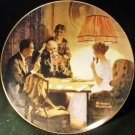 KNOWLES NORMAN ROCKWELL PLATE 'THIS IS THE ROOM WHERE LIGHT MADE' LIGHT SERIES