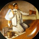 KNOWLES COLLECTIBLE PLATE 'THE PAINTER' NORMAN ROCKWELL 1983 NMB