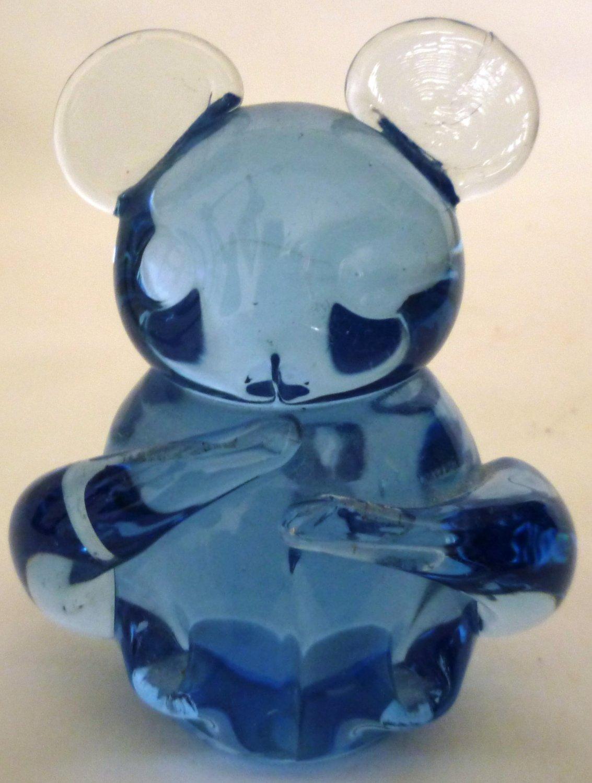 United States Commemorative Fine Arts Gallery Blue Glass