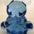 UNITED STATES COMMEMORATIVE FINE ARTS GALLERY BLUE GLASS FIGURINE KOALA BEAR