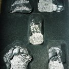 GORGEOUS CHRISTMAS HOUSE SPUN GLASS ORNAMENTS SET 5 TREE ANGEL SNOWMAN SWAN BIRD