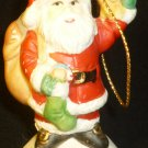 COLLECTIBLE 1985 CVS PORCELAIN CHRISTMAS TREE SANTA ORNAMENT