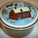 VILLEROY & BOCH DESIGN NAIF TRINKET BOX LUXEMBOURG LAPLAU HOUSE IN A WINTER #5