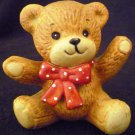 CUTE ENESCO TEDDY BEAR WITH A BOW ENESCO