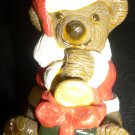 CUTE CHRISTMAS TREE ORNAMENT BEAR WITH A TRUMPHET