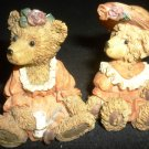 CHARMING TEDDY BEARS FUGURINE SET OF TWO FRIENDS SHOWSTOPPERS