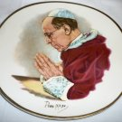 STAFFORDSHIRE PORCELAIN ENGLAND DECORATIVE PLATE POPE PIUS XII CROWN CLARENCE RR