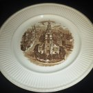1941 SEPIA TRANSFER HISTORICAL PLATE WEDGWOOD OLD LONDON VIEWS ST.CLEMENT DANES