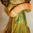 VINTAGE CHRISTMAS CERAMIC ANGEL W/HARMONICA 'JOY TO THE WORLD' BY SCHMID JAPAN