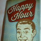 STAINLESS STEEL FLASK 'HAPPY HOUR' WEMBLEY 4 OZ