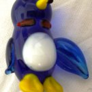 CHARMING HANDBLOWN ART GLASS MINIATURE PENGUIN FIGURINE