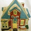 COBLESTONE CORNERS CERAMIC HOUSE CHRISTMAS DECORATION TOYLAND STORE