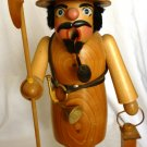VINTAGE WOODEN STEINBACH GERMAN NATURAL WOOD SMOKER NIGHT WATCHMAN GATE GUARD
