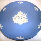 WEDGWOOD JASPERWARE CHRISTMAS 1991 HARK THE HERALD ANGELS SING BLUE WHITE PLATE