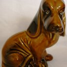 BEAUTIFUL COLLECTIBLE DACHSHUND FIGURINE BROWN GLAZED CERAMIC BRAZIL