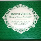 CURRIER & IVES EAST FRONT MOUNT VERNON FINE PORCELAIN CHRISTMAS ORNAMENT