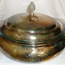 VINTAGE REED & BARTON SILVERPLATED LIDDED POT WITH HANDLES MISSING GLASS LINER