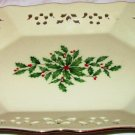 LENOX DIMENTION COLLECTION PIERCED CHRISTMAS PORCELAIN CANDY COOKIE DISH