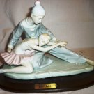 GORGEOUS PORCELAIN FIGURINE 'LOVER'S BALLET' ROYAL CROWN ARNART 1985 PEDESTAL