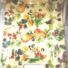 "STUNNING LA PRIMULA ITALY PORCELAIN TRAY W/HANDLES HANDPAINTED FRUITS 17.5"" x 13"""