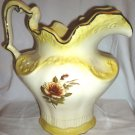 GORGEOUS OVERSIZED WATER PITCHER VASE BY ARNEL'S HANDPAINTED ROSE 10""