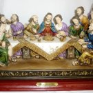 COLORFUL SANTINI LIKE FIGURINE 'LAST SUPPER' CHRISTIANITY RELIGIOUS RESIN