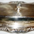 VINTAGE EPCA OLD ENGLLISH SILVER PLATE BY POOLE BUTTER SERVER DISH GLASS INSERT