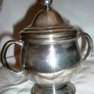 VINTAGE SILVERPLATED ONEIDA BY COMMUNITY LTD. HI-LIGHT LIDDED SUGAR BOWL