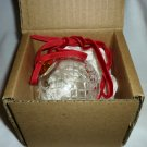 GORGEOUS VINTAGE WATERFORD DIAMOND CUT & ETCHED BALL ORNAMENT CHRISTMAS