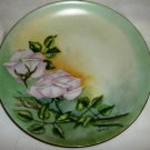 VINTAGE JHR HUTSCHENREUTHER SELB GERMANY PORCELAIN PLATE HANDPAINTED ROSES SIGNE