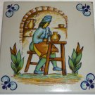 DECORATIVE CERAMIC TILE FOLCLORE OF SPAIN WALL HANGING