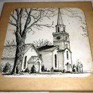 DECORATIVE CERAMIC TILE THE FIRST PRESBYTERIAN CHURCH COPPERSTOWN NY HAND ART