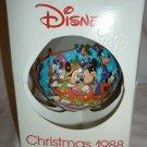 DISNEY 1988 CHRISTMAS BALL ORNAMENT 'WARM WINTER RIDE' SCHMID COLLECTORS GALLERY