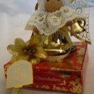VINTAGE EMPTY GIFT CHOCOLATE WITH CHRISTMAS ANGEL HEIDEL CONFISERIE GERMANY