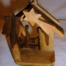 VINTAGE NATIVITY WOODEN CHRISTMAS ORNAMENT FROM JERUSALEM