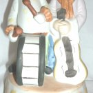 PRICE IMPORTS MUSIC BOX SEND IN THE CLOWNS BISQUE PORCELAIN CLOWNS W/DRUM GUITAR