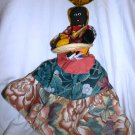 AFRICAN-AMERICAN BLACK CLOTH DOLL HANDMADE