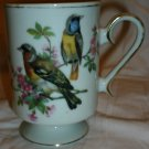 VINTAGE ROYAL CROWN COFFEE TEA PEDESTAL MUG CUP VIRIO BIRDS