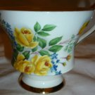 VINTAGE ROYAL BONE CHINA ENGLAND YELLOW ROSE TEA CUP NUMBERED