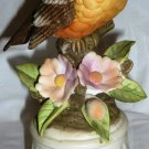 VINTAGE ROYAL CROWN PORCELAIN ROBIN BIRD FIGURINE MUSIC BOX