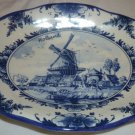 VINTAGE DELFT BLUE & WHITE SOAP DISH HOLLAND WINDMILL REPAIRED