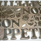 WEBSTER WILCOX SILVERPLATE VINTAGE BON APPETIT HOT PLATE TRIVET ITALY